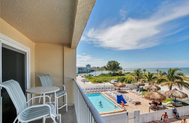 Rental balcony at Beach Place Condominiums.
