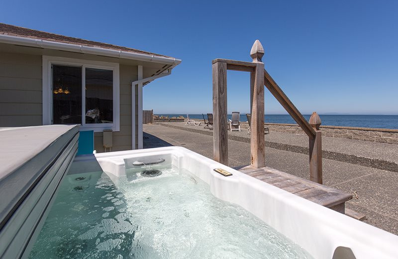 Rental hot tub at Sequim Valley Properties.