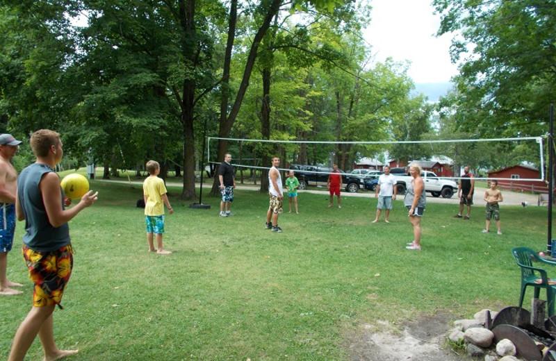 Volleyball court at Cedar Point Resort.