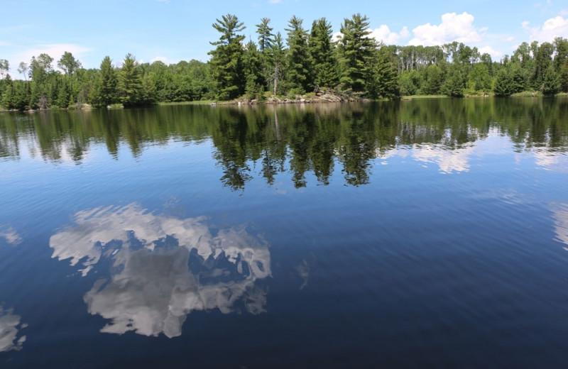 Lake view at The Pines of Kabetogama Resort.