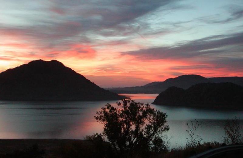 Lake view at Quartz Mountain Resort.