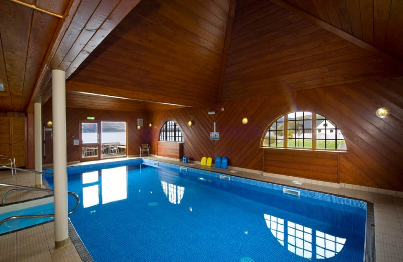 Indoor pool at Holly Tree Hotel.