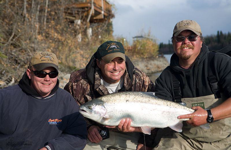 Fishing at Captain Bligh's Beaver Creek Lodge & Guide Service.