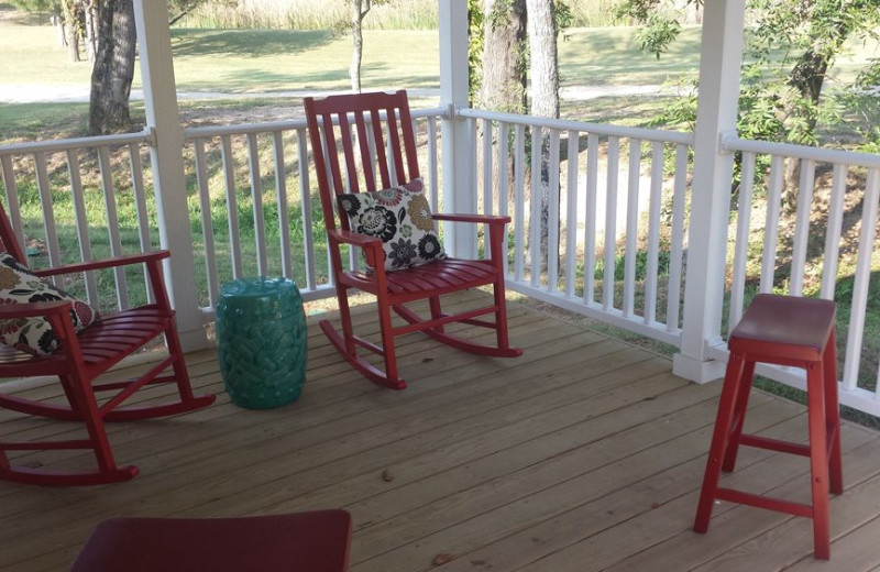 Porch at Mill Creek Ranch Resort.