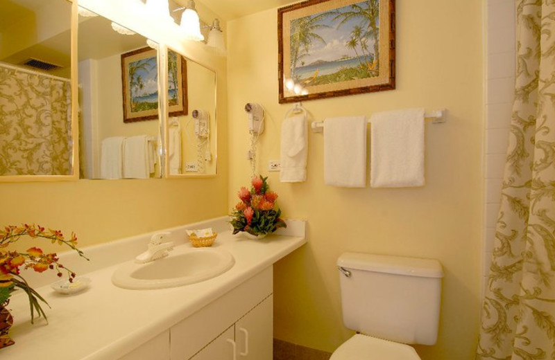 Guest bathroom at Mana Kai Maui.