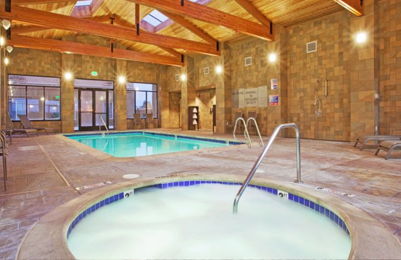 Indoor Swimming Pool and Whirlpool at Holiday Inn Express Hotel & Suites Salinas