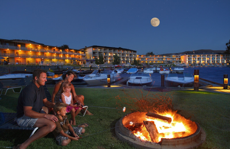 Fire pit at Campbell's Resort on Lake Chelan.