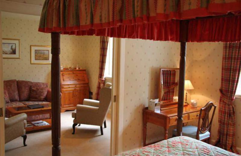 Guest room at Taychreggan Hotel.