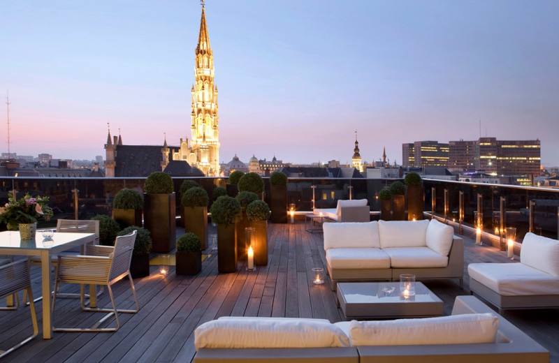 Patio at Royal Windsor Hotel - Grand Place.