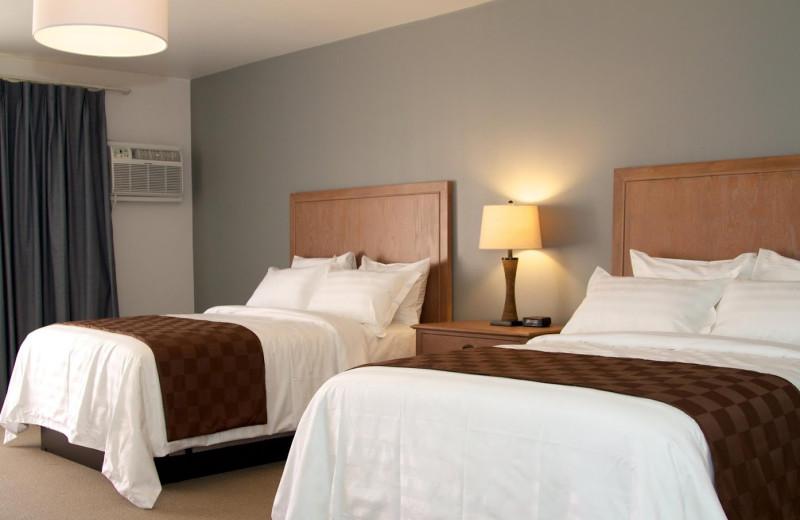 Guest room at Seaport Marina Hotel.