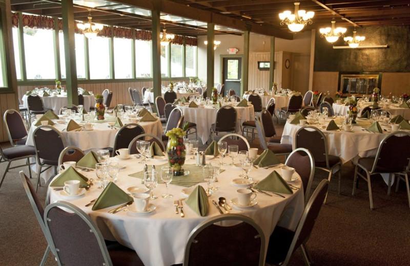 Wedding reception at Waterville Valley Resort.