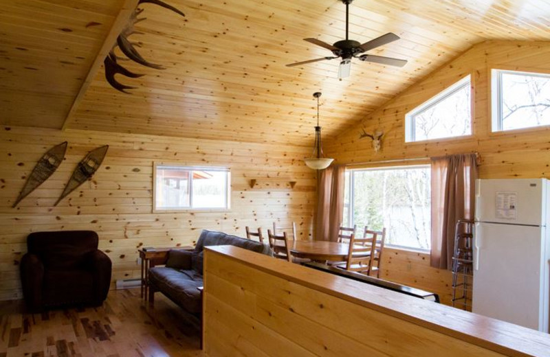 Cabin interior at Wright's Wilderness Camp.