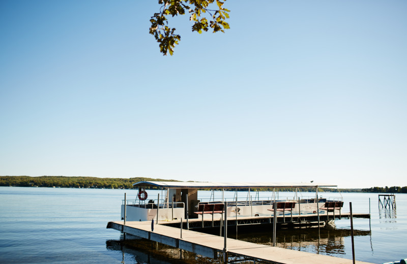 The Big Pelican Boat is perfect for cruising around Pelican Lake.