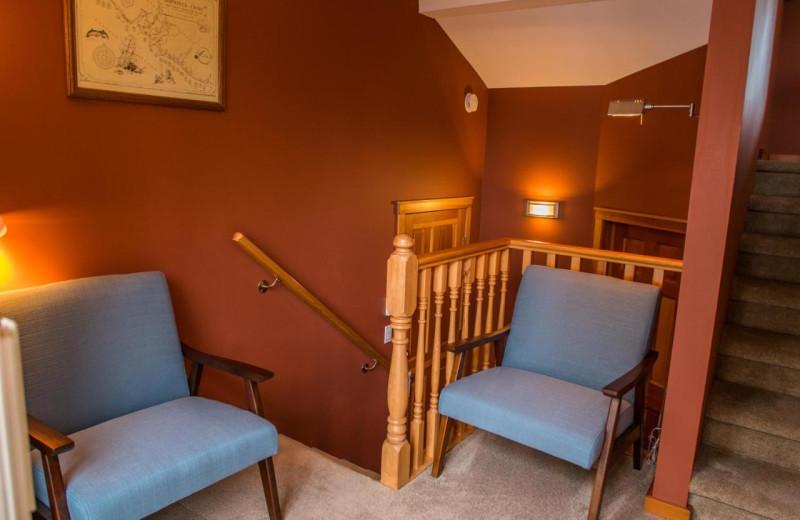 Guest room at Snug Harbour Inn.