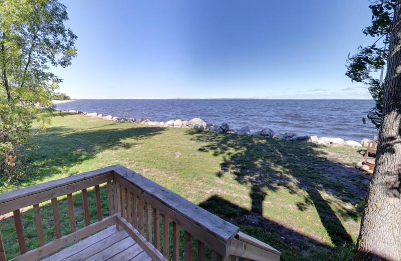 Cabin lake view at Buffalo Point Resort.