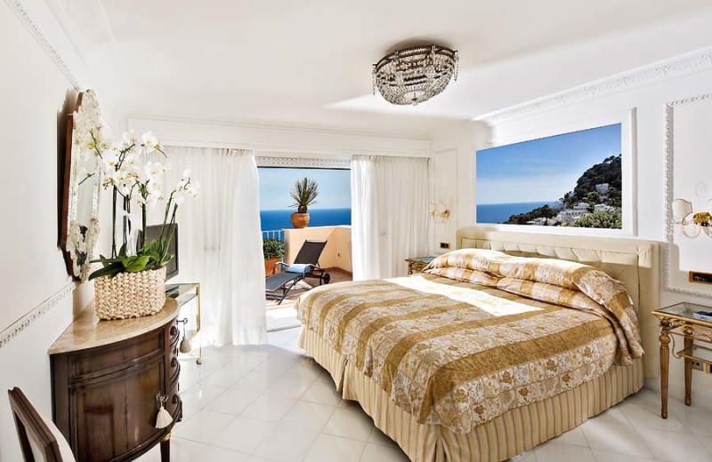 Guest room at Grand Hotel Quisisana.