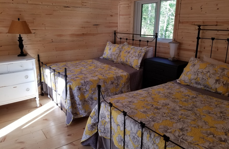 Cottage bedroom at Mattawa River Resort.