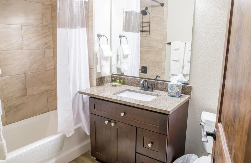 Rental bathroom at Fall River Village Resort Condos.
