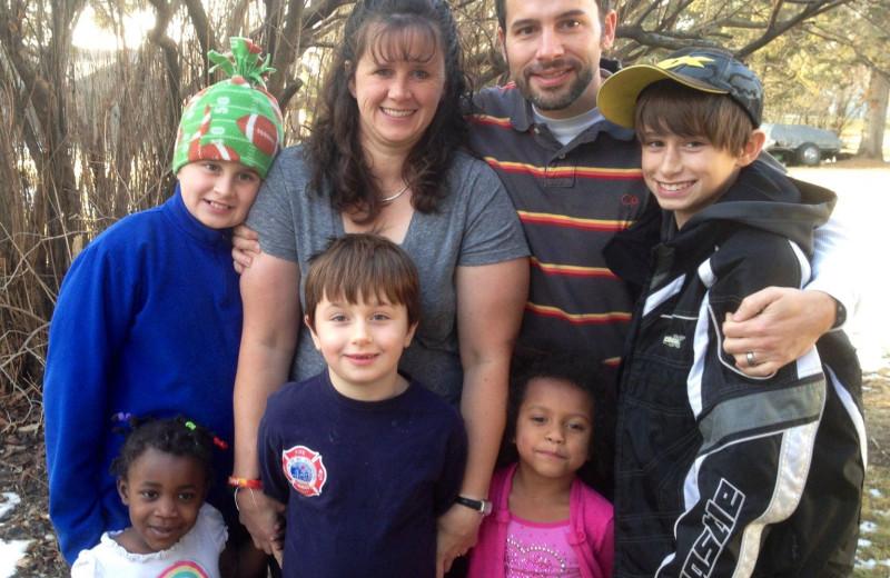 Family at Whispering Pines Resort.
