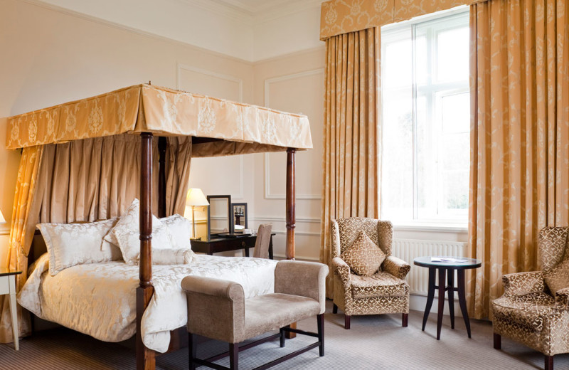 Guest room at Albrighton Hall Hotel.