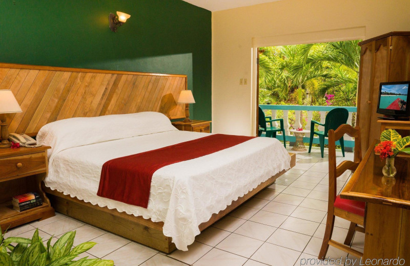 Guest room at Legends Beach Resort.