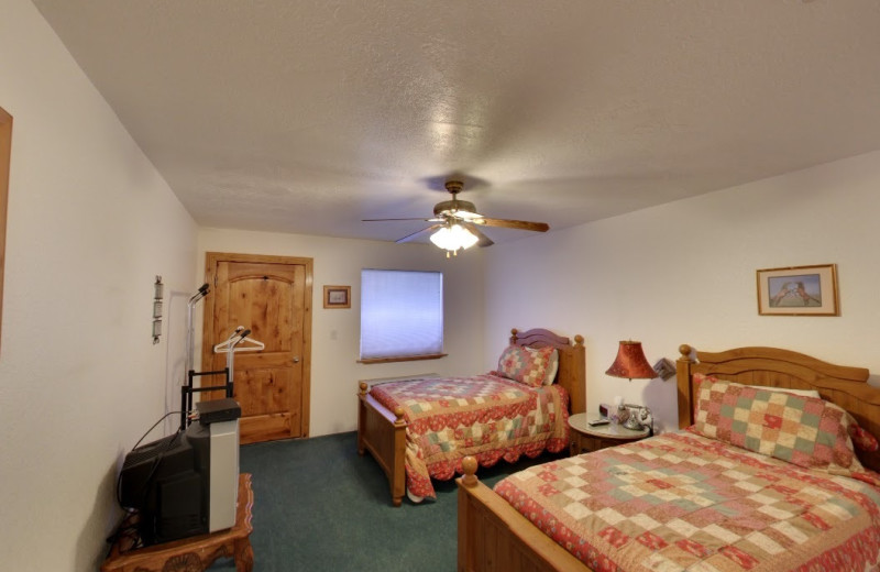 Guest room at The Snuggle Inn.