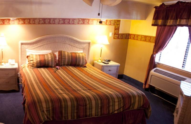 Guest room at Old Creek Resort.