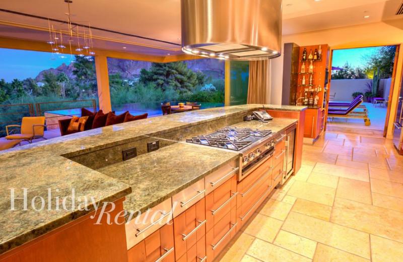 Rental kitchen at HolidayRental.com.