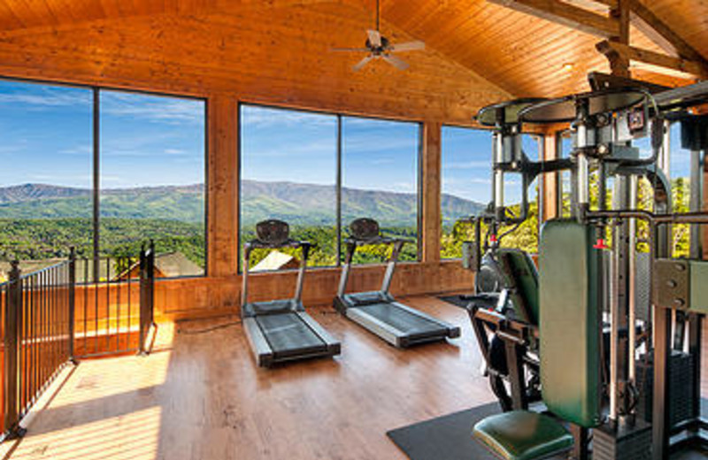 Fitness room at Legacy Mountain Resort