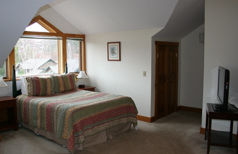 Rental bedroom at Stowe Vacation Rentals & Property Management.