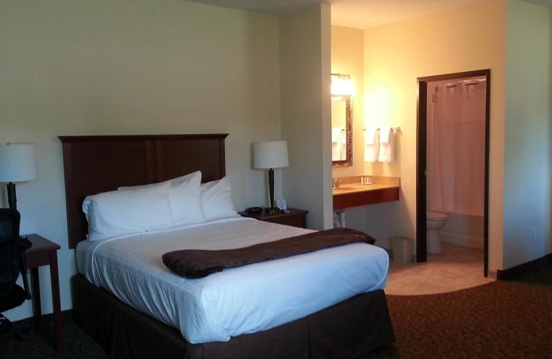 Guest room at Battle Lake Motel.