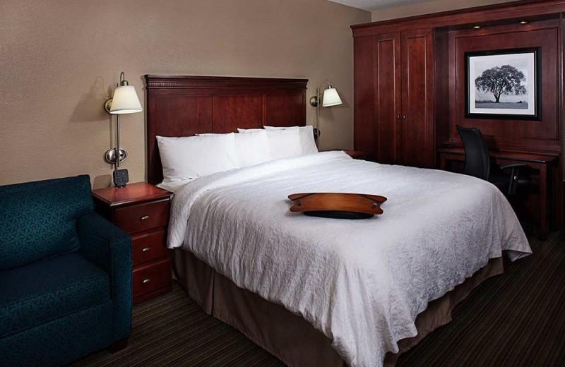 Guest room at Hampton Inn Long Island-Islandia.