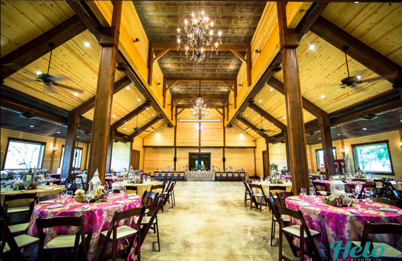 Wedding reception at Cedar Skies.