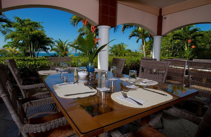 Patio at Las Olas Resort.