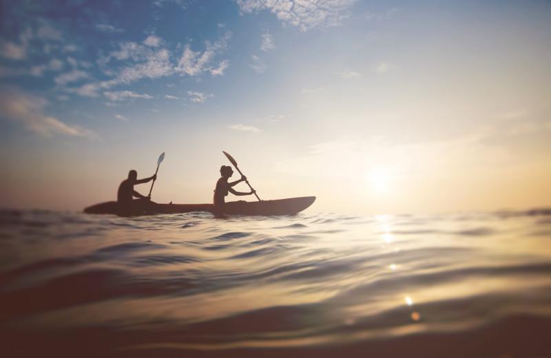 Canoeing at Sea Star Realty.