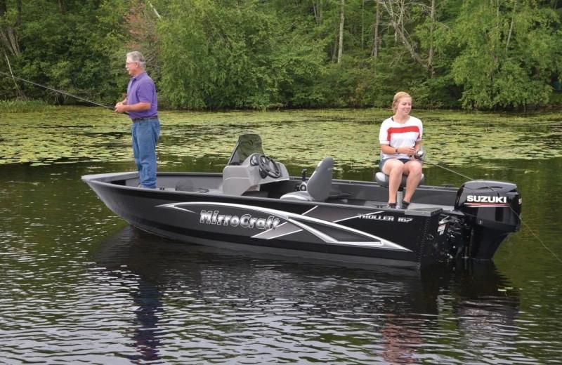 Fishing at Hiller Vacation Homes.