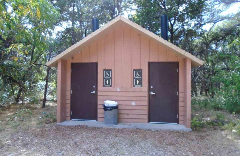 Camp bathroom at Inks Lake State Park.