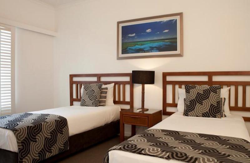 Guest room at Radisson Treetops Resort.
