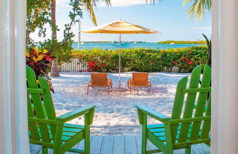 Beach view at Parrot Key Resort.