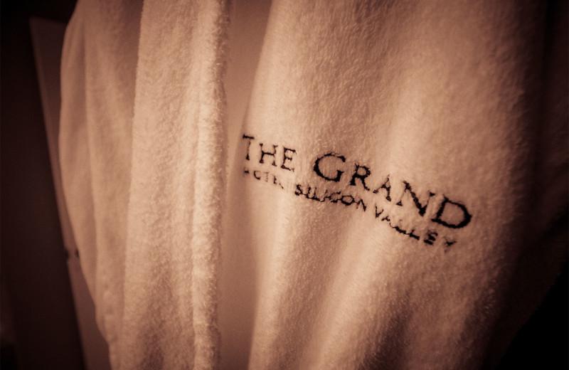 Bathrobe at The Grand Hotel.