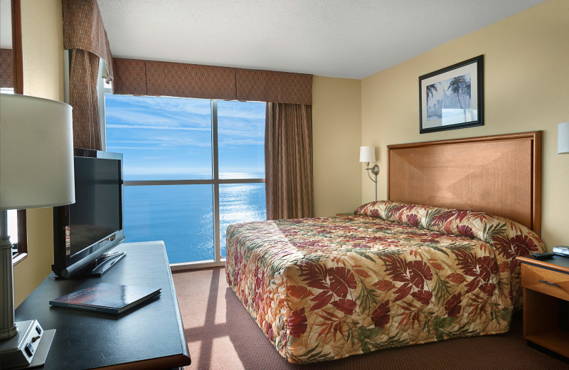 Guest room at Bay View Resort.