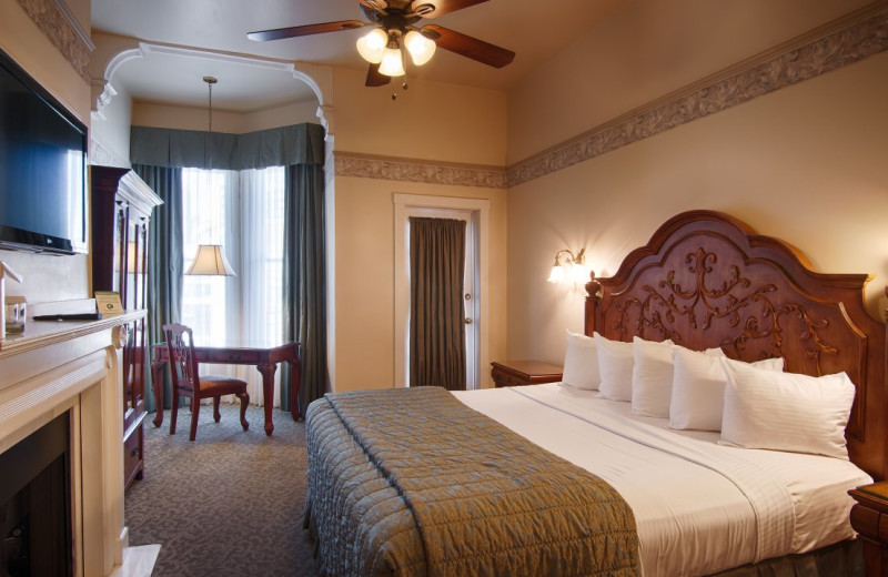 Guest room at Horton Grand Hotel.