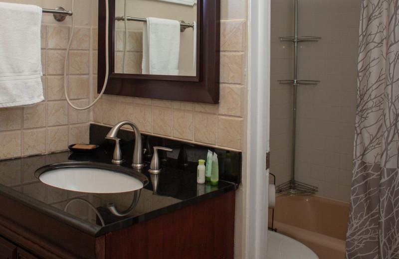 Bathroom at Mark III Inn.