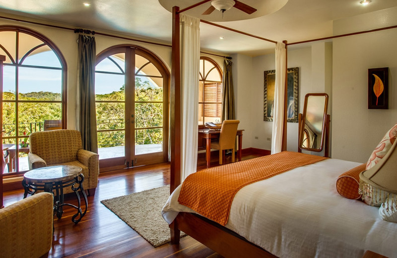 Guest room at San Ignacio Resort Hotel.