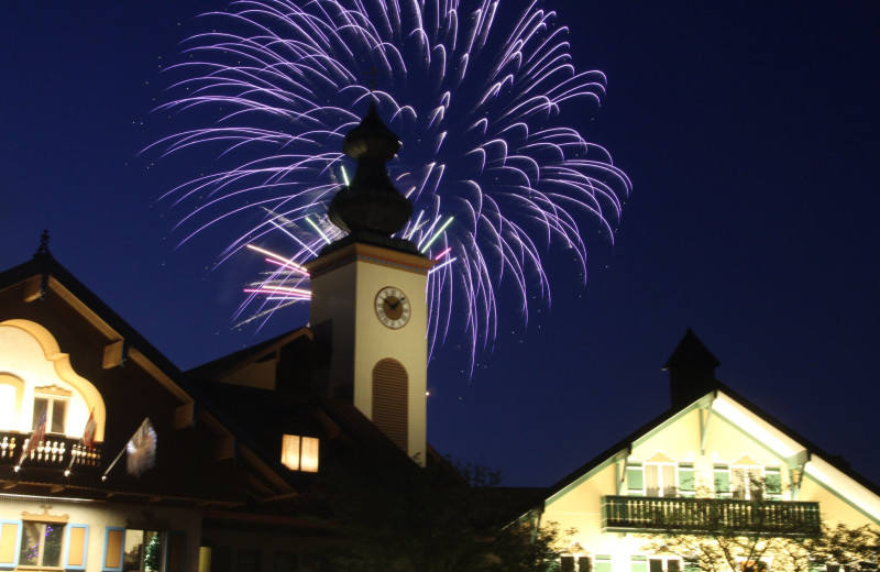 Fireworks at Bavarian Inn of Frankenmuth.