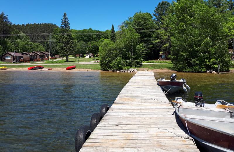 Dock at Sandy Lane Resort.