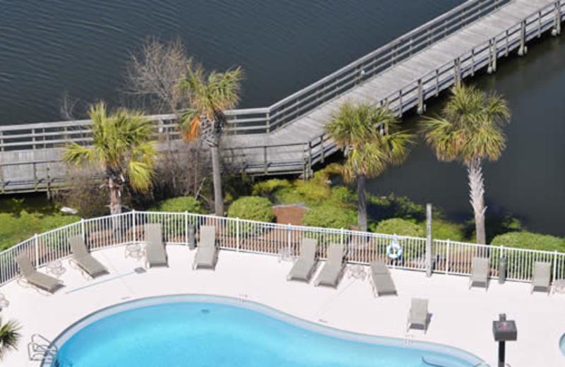 Pool view at Seascape Resort.