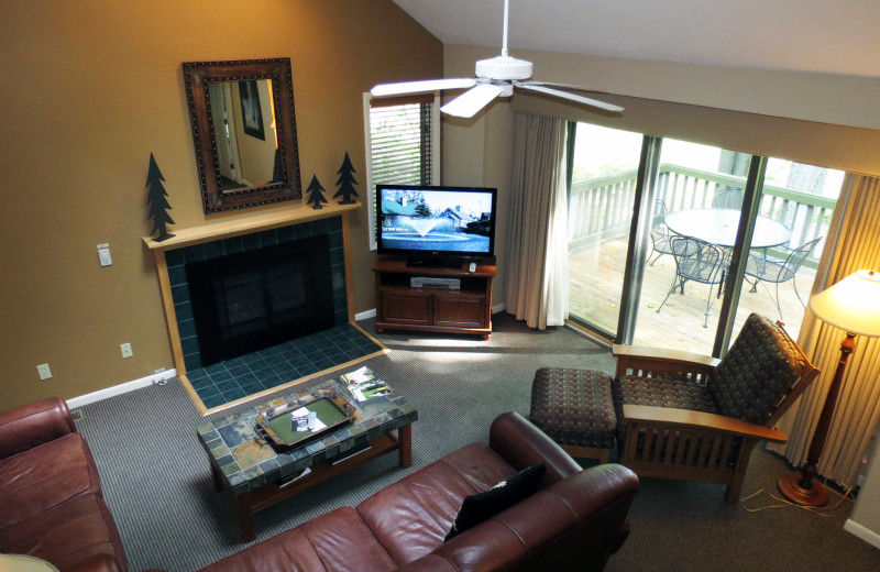 Guest living room at Crystal Mountain Resort.