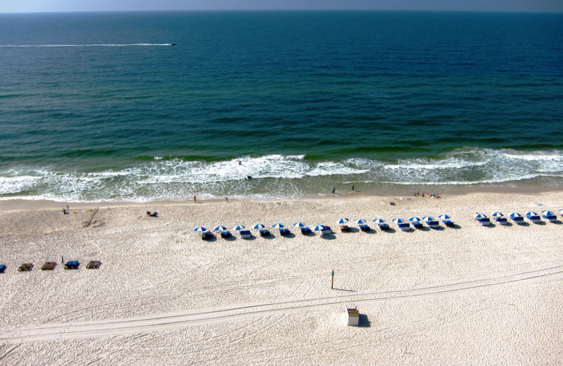 Beach at Gulf Shores Vacation Rentals.