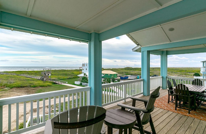 Rental deck at Silver Sands Realty.